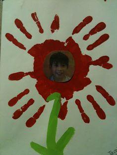 children's handprint art