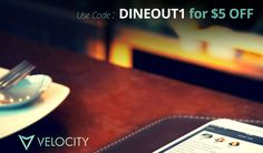 Velocity App Promo Code: Get $5 off with coupon code DINEOUT1, plus read our Velocity review!