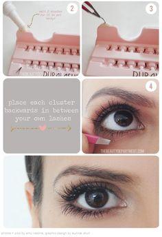 fc8d39ed841 false lashes application Applying False Eyelashes, Fake Lashes, Natural  Fake Eyelashes, Bottom Eyelashes