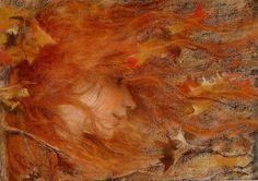 """Lucien Levy-Dhurmer (French, 1865-1953), """"Storm"""" 