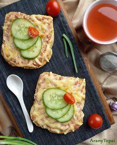 AranyTepsi: Párizsikrémes melegszendvics Avocado Egg, Vegetable Pizza, Food And Drink, Cooking Recipes, Eggs, Vegetables, Breakfast, Lifestyle, Chef Recipes