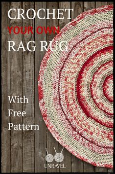 Crochet Your Own Rag Rug (Free Pattern) ༺✿Teresa Restegui✿༻