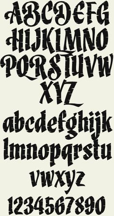 Fonts Alphabet Discover LHF Brushwork font Easy to read Calligraphic style from sign artist Dave Correll. Originally created for his own logo the letterstyle was expanded to include 4 different styles: Regular Swash Regular Organic and Swash Organic.