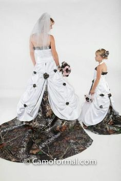 Camo wedding dress for flower girl or junior brides maid??