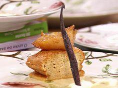 Bolo de soja com pera confitada