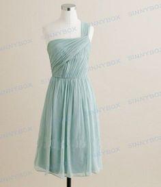 One shoulder strapless bridesmaid dress, evening gown, prom dress, formal dresses, custom made dress. $86.99, via Etsy.