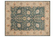 Raymond Rug, Blue/Light Gold   hand-tufted wool, India   5/8-inch pile height   $76.50 - $1,020.00 retail