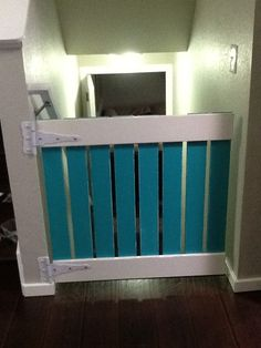 DIY Baby gate!  Maybe Tory could make this?