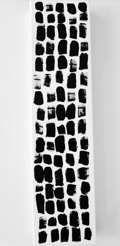 Abstract Waterfall Painting Original Modern Art Black and White Painting by Lynda Black / polkadottydolls