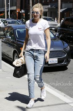 SHOP RTA Ryder Blue Mist Distressed Jeans Seen On Gigi Hadid