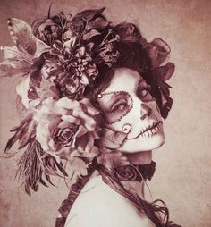 Beautiful sugar skull face paint
