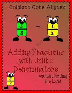 Adding Fractions with Unlike Denominators Using Patterns product from Creative-Educational-Concepts on TeachersNotebook.com