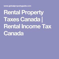 Rental Property Taxes Canada | Rental Income Tax Canada