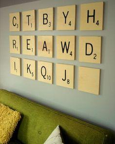 How to Make Jen's DIY Oversized Scrabble Tile Art