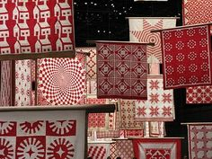 American Folk Art Museum's satellite installation, Infinite Variety: Three Centuries of Red and White Quilts Quilt Stitching, Quilting, Quilt Display, Two Color Quilts, Red And White Quilts, Miniature Quilts, Amish Quilts, Doll Quilt, Antique Quilts