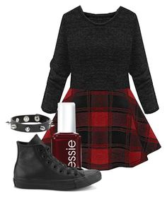 """""""Simple """" by anna-caruana ❤ liked on Polyvore featuring Essie and Converse"""