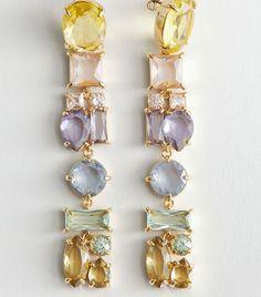 Rhinestone Hanging Earrings - Rhinestones - Drop earrings - Other Stories Mini Hoop Earrings, Hanging Earrings, Pendant Earrings, Gemstone Earrings, Statement Earrings, Pendant Jewelry, Drop Earrings, Sunglasses Accessories, Jewelry Accessories