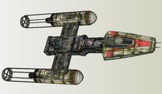 PAPERMAU: Star Wars - X-Wing Alliance Spaceship Paper Model - by Slawek