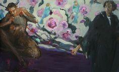 The Panpipes, Michał Zaborowski, oil on canvas, 170x110cm.