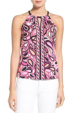 MICHAEL MICHAEL KORS 'Calabasas' Print Halter Style Top. #michaelmichaelkors #cloth #