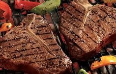 Grilled Beef Steak. Bring the taste of fresh Italian pesto to your favorite steak with this easy recipe. Parsley and garlic are a perfect complement to Omaha Steaks Porterhouse or T-Bone steaks. Serve with green, red, and yellow grilled bell peppers for a side that's both tasty and colorful