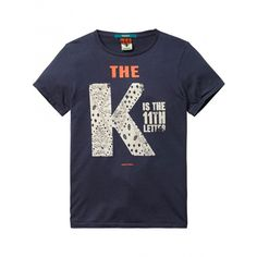 Scotch Shrunk - T-shirt blauw S.H.R.U.N.K.