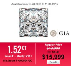 Especially for this sale off week - Hurry up! #diamond #engagementring #weddingband #jewelry #menring #womenring #18Kwhitegoldengagementring #hungphatusa