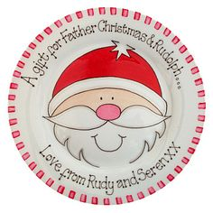 personalised christmas plate - father christmas