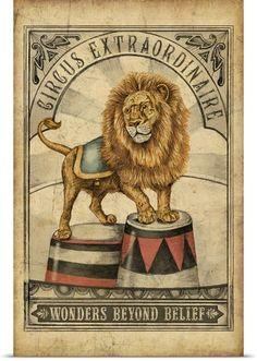 circus lion art