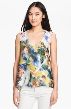 Kay Celine Digital Floral Print Tank available at Nordstrom. Made in USA. $65