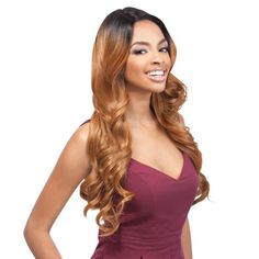 Outre Synthetic Lace Front Wig L Part Batik Parisian