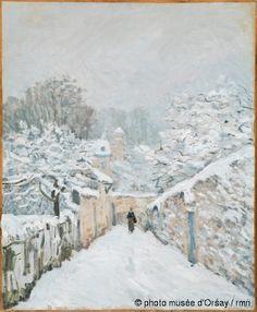 La neige à Louveciennes | Sisley en 1878 huile sur toile H. 0.61 ; L. 0.5 musée d'Orsay, Paris, France