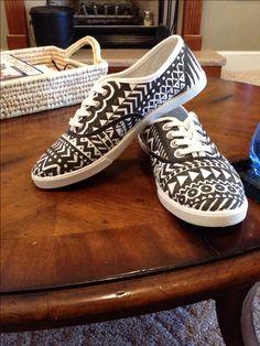 DIY sharpie shoes.