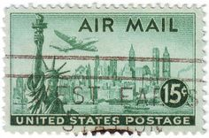 Air Mail Postage Stamps | Recent Photos The Commons Getty Collection Galleries World Map App ...
