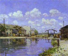 The Saint Martin Canal - Alfred Sisley