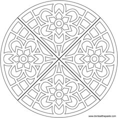 Waffle mandala coloring page- also available in JPG format #coloring