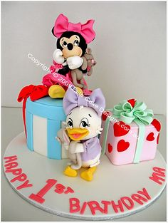 disney birthday cakes | Disney, Minnie, Daisy, Donald, Children's Birthday Cakes, 1st Birthday ...
