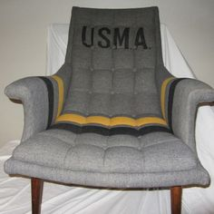 USMA West Point Chair black, vintage, vintage furniture