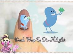 Dumb Ways To Die Nail Art Tutorial - based on Metro train safety campaign