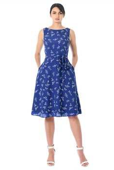 I <3 this Floral print contrast piped trim crepe dress from eShakti