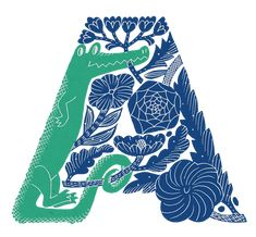 鹿児島睦によるアルファベット文字の図案コレクションの画像 Alphabet Design, Alphabet Print, Art And Illustration, Illustrations And Posters, Graphic Design Illustration, Graphic Design Typography, Lettering Design, Graphic Art, Love Logo