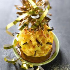 Ananas rôti à la vanille, sauce Carambar®