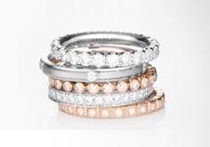 Love mixed metal stacking rings, always loved wide rings and have rose gold and white gold on my engagement wedding ring