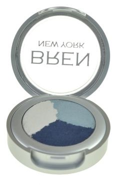 Cosmetics | Waterfall Blue Eyeshadow Trio by Bren New York Makeup Bren New York's coordinated eye shadow trio can give you make-up artist looks whether dramatic or subtle. Using a shadow brush, sweep the lightest color across your entire lid, from brow to lash line. Use the medium shade on your lower lids and the dark shade in the crease. Blend gently with your eyeshadow brush. Made in USA 3 Gms. $19.00