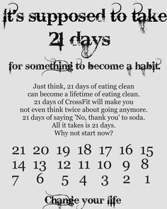 It takes 21 days to make a habit! Keep Going! Healthy Habits, Get Healthy, 21 Days Habit, Habit Quotes, Break A Habit, Fitness Motivation Quotes, Diet Motivation, Get In Shape, Life Lessons