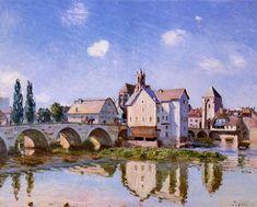 The Moret Bridge in the Sunlight - Alfred Sisley 1892