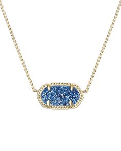 It's back! The Elisa Pendant Necklace in Blue Drusy, available in-stores and online - Kendra Scott Jewelry.