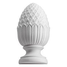 Fypon 5 x x 4 Full Round Urethane Pineapple Gable Decorations, White Fence, Round Design, Ceiling Medallions, Porch Decorating, Urn, Accent Decor, Design Art, Lanterns