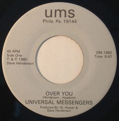 Universal Messengers - Over You  Not the spoken word Universal Messengers from the early/mid '70s.
