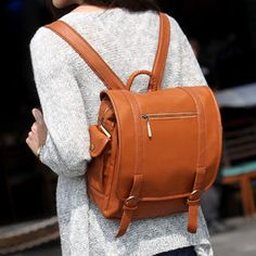 SO Central - Small Faux Leather Backpack